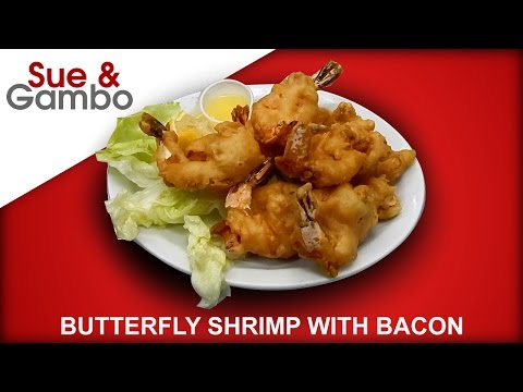 Butterfly / Butterflied Shrimp with Bacon