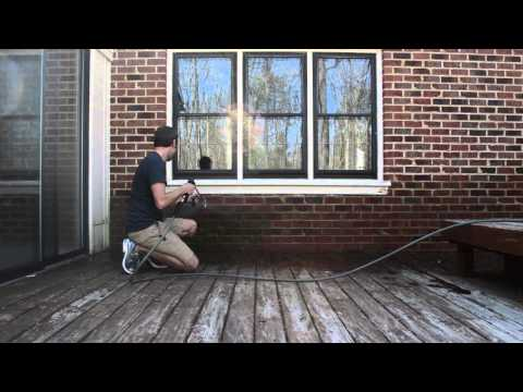 Pressure Washing A Brick House