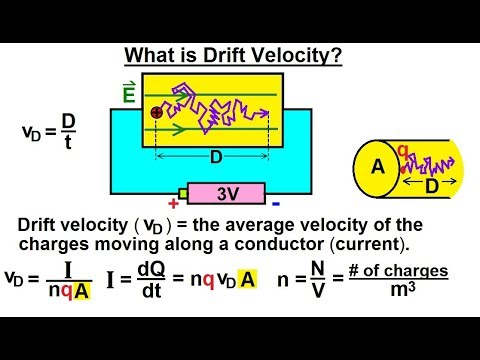 Physics - E&M: Ch 40.1 Current & Resistance Understood (2 of 17) What is a Drift Velocity?