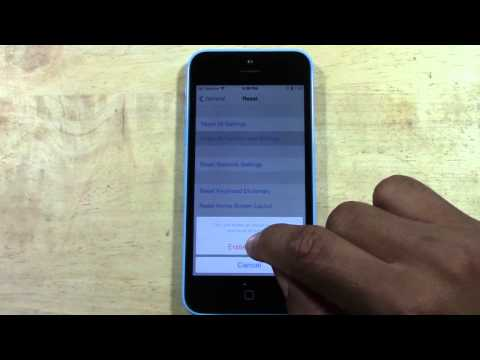 iPhone 5c - How to Reset Back to Factory Settings   H2TechVideos