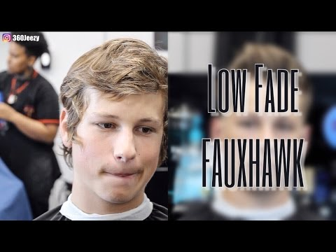 BARBER TUTORIAL TRANSFORMATION:  LOW FADE FAUXHAWK