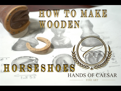 How to sculpt (carve) miniature wooden horseshoes