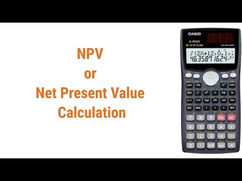 NPV or  Net Present Value  calculation in scientific calculator