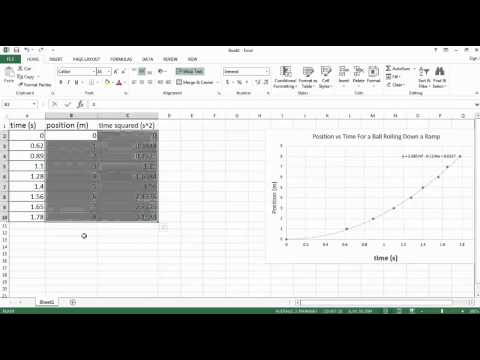 BCLN - Physics: How to Create Graphs and Fit Curves Using Excel