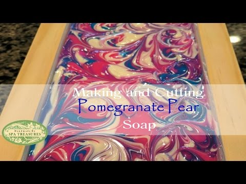 Making and Cutting of Pomegranate Pear CP Soap