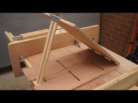 Woodworking Ideas. Angle Cut Tool for Table Saw Sled. Longitudinal cut