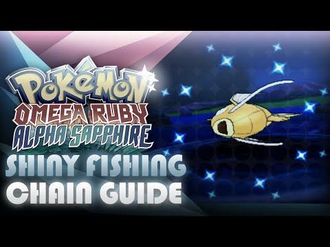 Pokemon ORAS: Fishing Shiny Pokemon Chaining Guide! - Mootypwns