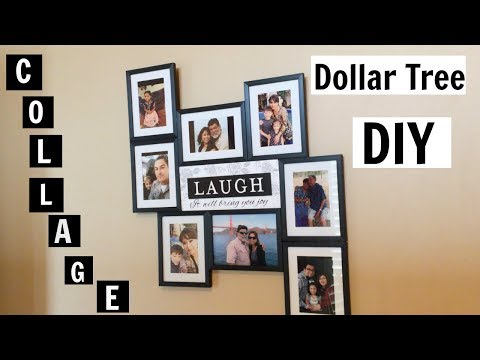 Dollar Tree DIY Family Picture Collage 👨‍👩‍👦‍👦