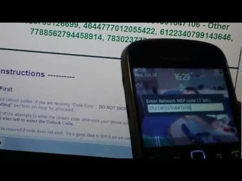 How to Unlock Blackberry Bold 9900 from Vodafone by Unlock Code, from Cellunlocker.net
