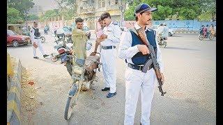 Traffic police ney Karachi mein nae campaign shuro kardi