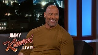 Dwayne Johnson Wants Jimmy Kimmel to Deliver His Baby