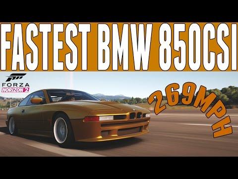 Forza Horizon 2 Top Speed Build : BMW 850CSi (269mph) - Rockstar DLC