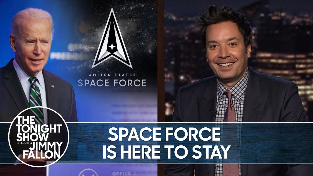 Biden Plans to Keep Trump's Space Force | The Tonight Show