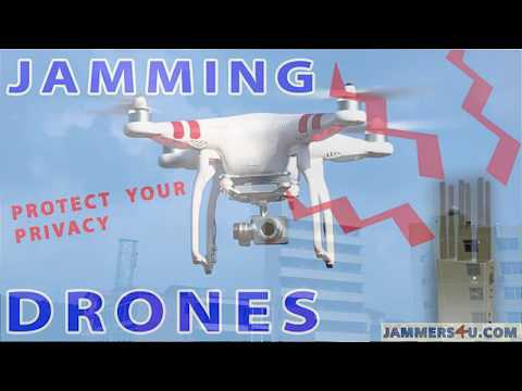 Drone UAV Remote Controls GPS Jammer video demo test