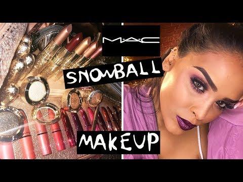MAC SNOWBALL XMAS PURPLE MAKEUP LOOK| NikkisSecretx