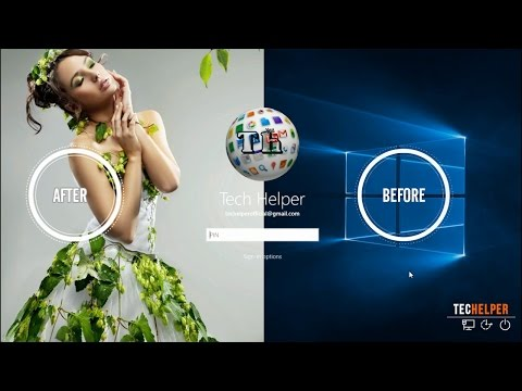 How To Change Windows10 login Screen Picture By Techelper | windows #010