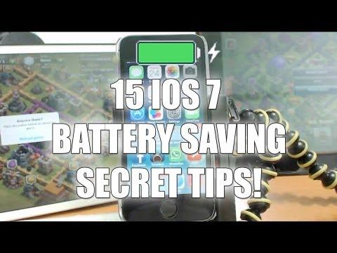 15 iOS 7 Battery Saving Secret Tips!