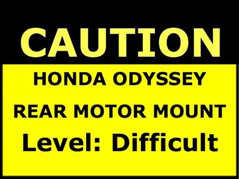Honda Odyssey Rear Motor Mount Replacement - 1999 to 2004 - Bundys Garage