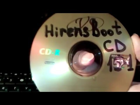 How to check scan test hard drive HDD thru Hirens Boot CD
