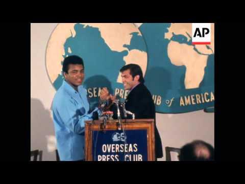 Ali to fight Bob Foster in Nevada Presser