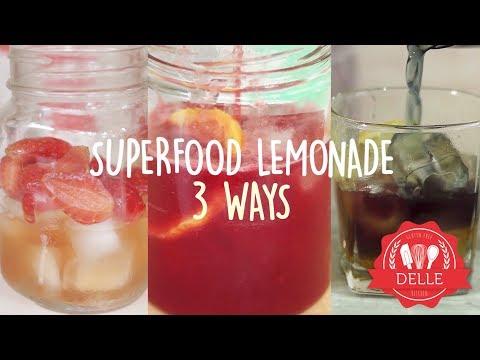 Lemonade with Superfood 3 Ways | DELLE KITCHEN