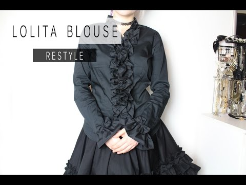 Lolita Blouse Restyle DIY