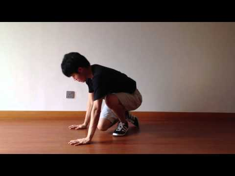 Elbow-Freeze to Baby-Freeze Transition - Breakdance moves