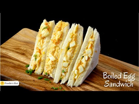 Boiled egg sandwich - Recipe by Foodie's Hut #0153
