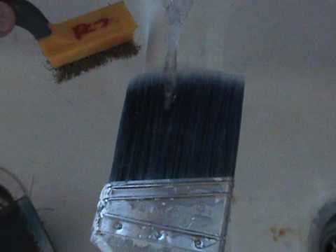 How to PROFESSIONALLY CLEAN PAINT BRUSHES  after every use.