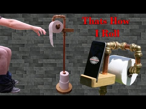 Copper Pipe Toilet Roll Holder - Quick & Easy Project