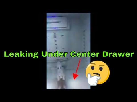Samsung refigerator leak under center drawer