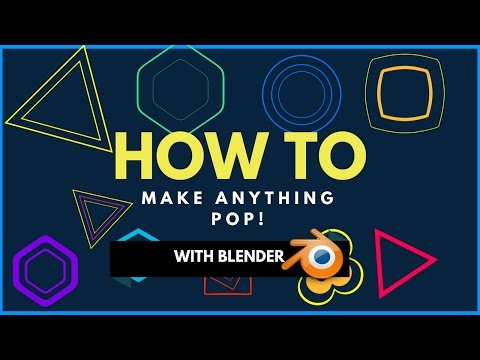 How to make anything pop in Blender! (Blender Tutorial/Quick tip)