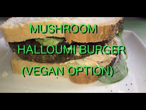 Mushroom Halloumi Burgers (Vegan option included)