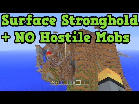 Minecraft Xbox 360 + PS3 Seed: Surface Stronghold & NO HOSTILE MOBS