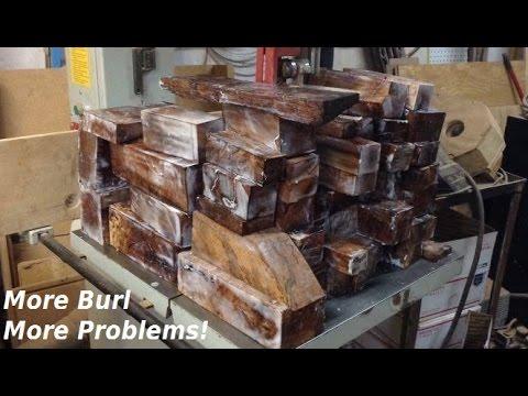 Cutting and Sealing 200 Pounds of Oak Burl