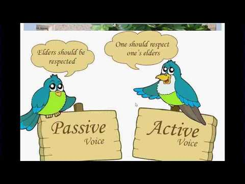 Passive Voice Lesson 1