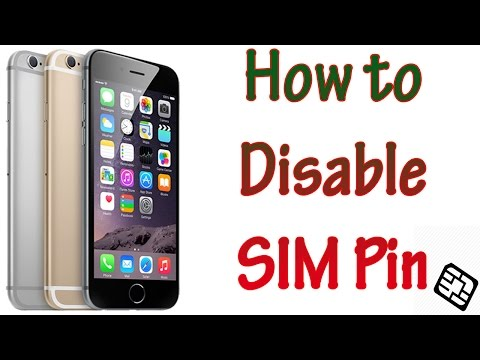 How to Disable an iPhone 6 or 6 plus SIM Pin Lang Bengali