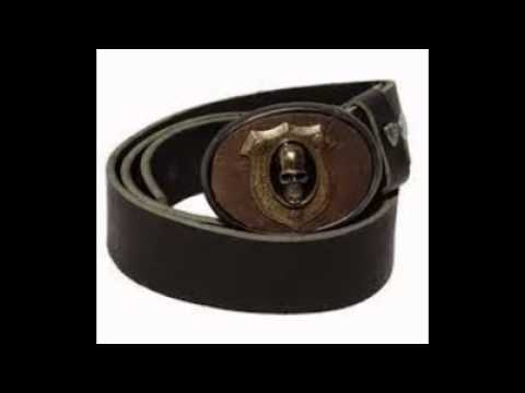 Black leather belt for buckle