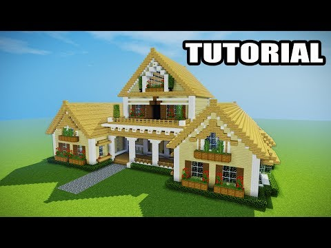 Minecraft - How to build a mansion tutorial - EPIC HOUSE!