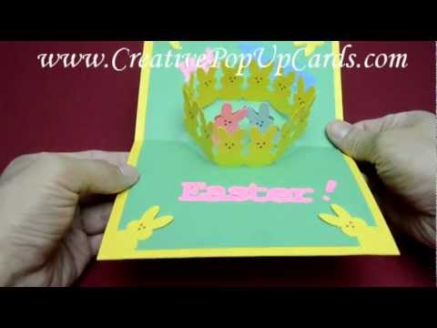 Easter Pop Up Card: Bunny Peeps