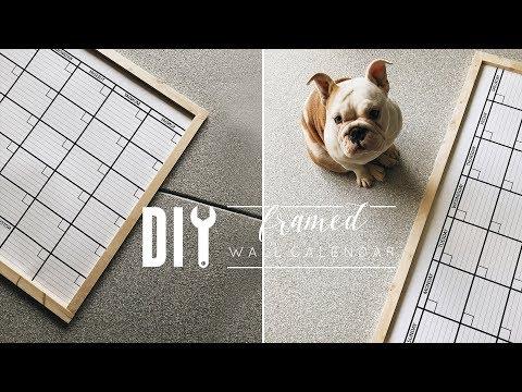 DIY Framed Wall Calendar | Upgrading an Amazon Purchase!