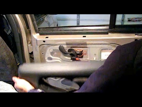 How to replace auto door glass for a Pontiac Grand Am Part 1: Disassembly