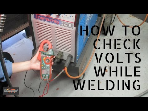 Clamp meter - How to check Volts when welding