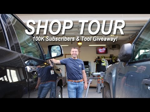 Shop Tour - 100K subscribers - and Tool Scholarships!