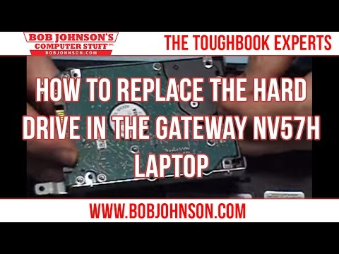 How to replace the Hard drive in the Gateway NV57H Laptop