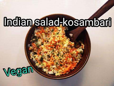 Vegan Indian salad (kosambari)   Ayurvedic Cooking # 1