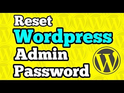 Reset Wordpress Admin Password using PhpMyAdmin   Forgot Admin pass
