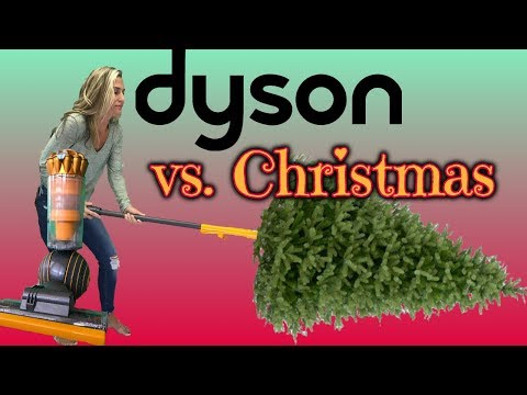 Dyson Vacuum vs. Christmas!!! you won't believe what it can do!
