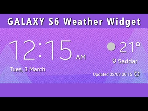 GALAXY S6 Weather Widget for any Aandroid Device