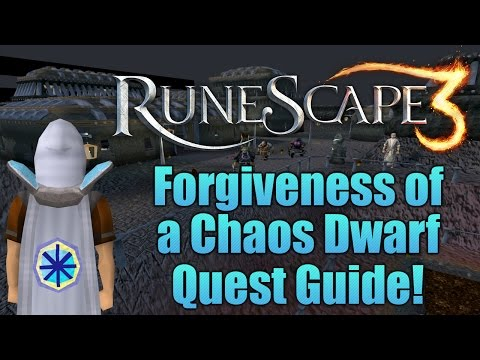Runescape 3: Forgiveness of a Chaos Dwarf Quest Guide!